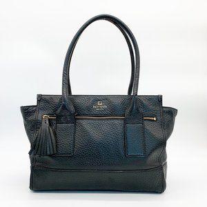 KATE SPADE Pebbled Leather Satchel Handbag Black
